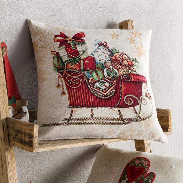 Χριστουγεννιάτικη Μαξιλαροθήκη (43x43) Gofis Home 693