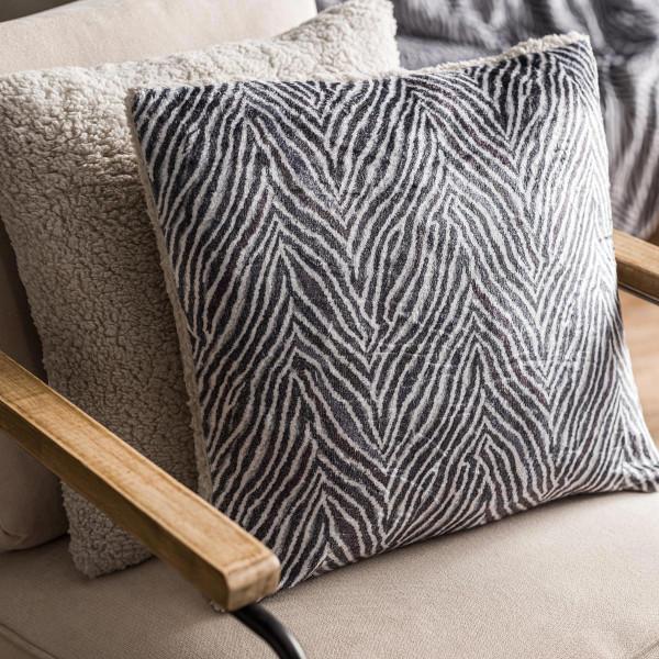 Διακοσμητική Μαξιλαροθήκη (43x43) Gofis Home Zebre Grey 836/15