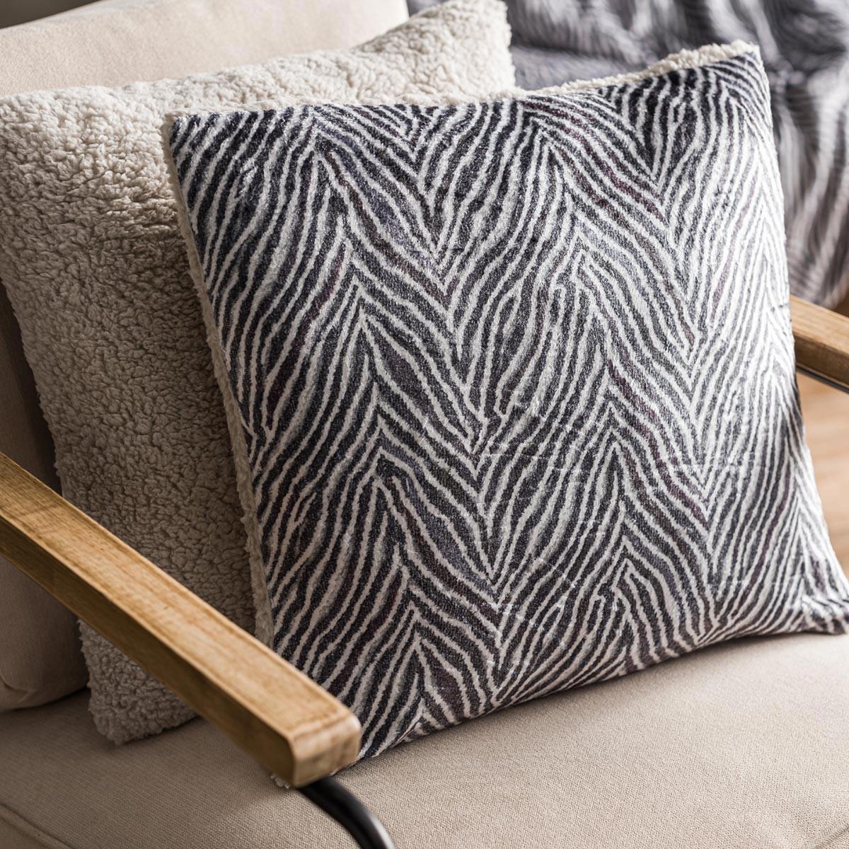 Διακοσμητική Μαξιλαροθήκη (43×43) Gofis Home Zebre Grey 836/15
