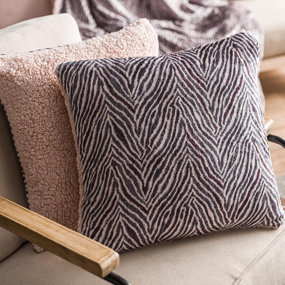 Διακοσμητική Μαξιλαροθήκη (43×43) Gofis Home Zebre Powder Pink 8