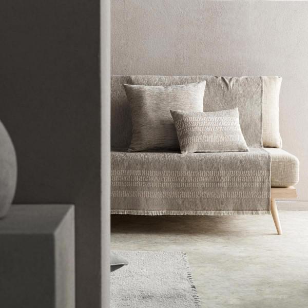 Ριχτάρι Πολυθρόνας (180x180) Gofis Home Calma Grey 395/15