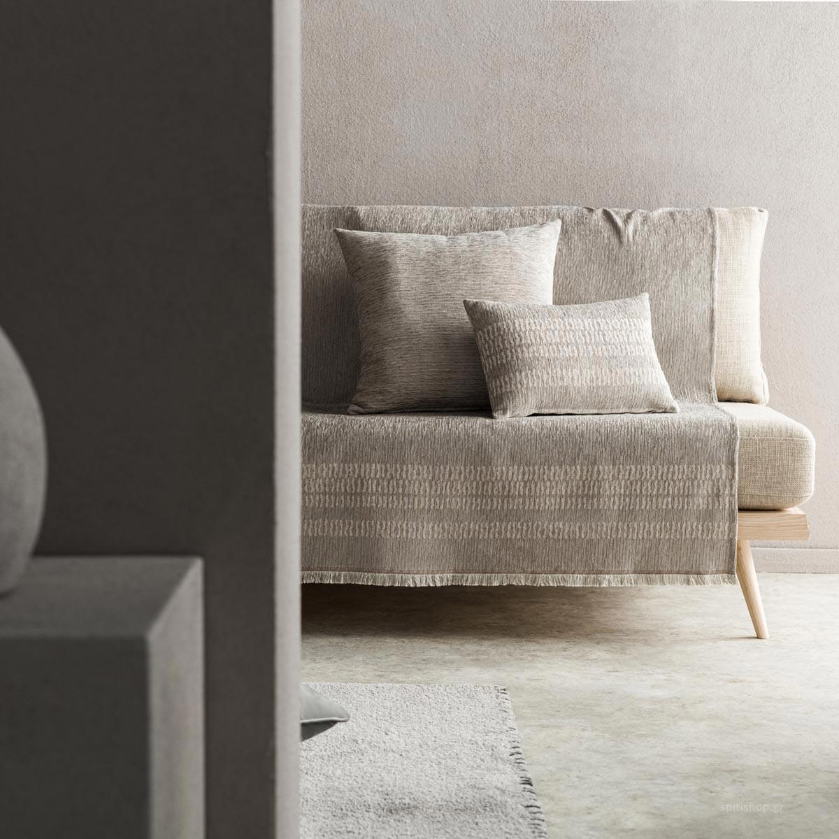 Ριχτάρι Τετραθέσιου (180×350) Gofis Home Calma Grey 395/15