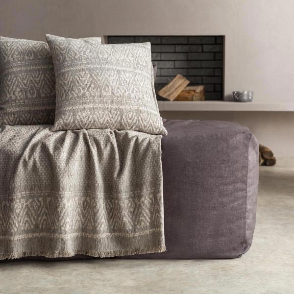Ριχτάρι Πολυθρόνας (180x180) Gofis Home Reyan Grey 551/15