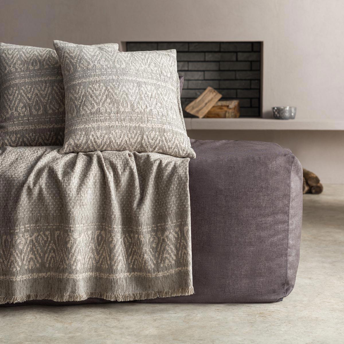 Ριχτάρι Πολυθρόνας (180×180) Gofis Home Reyan Grey 551/15
