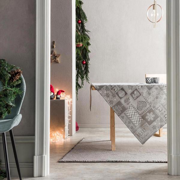 Χριστουγεννιάτικο Τραπεζομάντηλο (135x135) Gofis Home 594/15