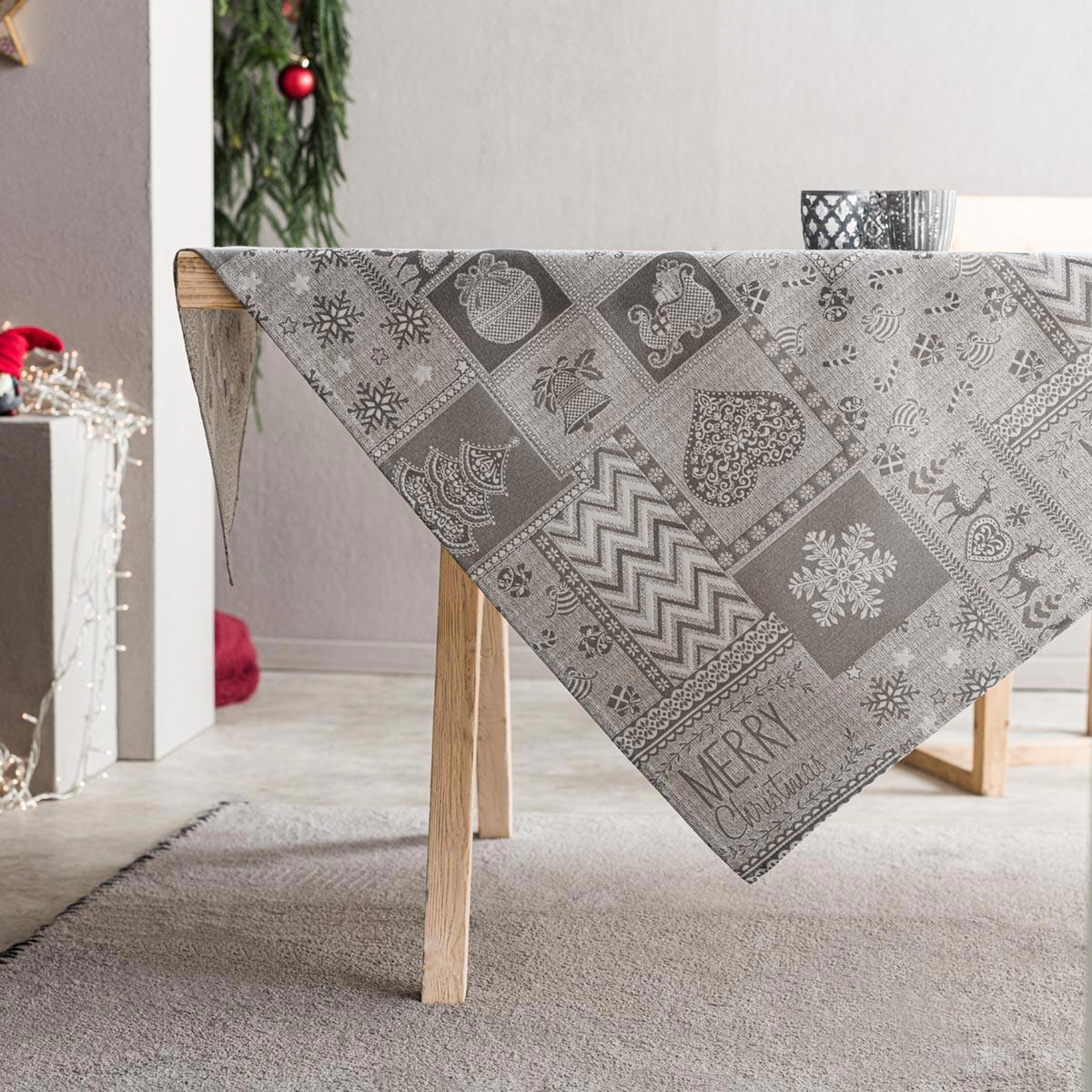 Χριστουγεννιάτικο Τραπεζομάντηλο (135×180) Gofis Home 594/15
