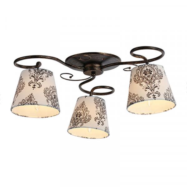 Φωτιστικό Οροφής Τρίφωτο Aca EG165763CBW Black Gold