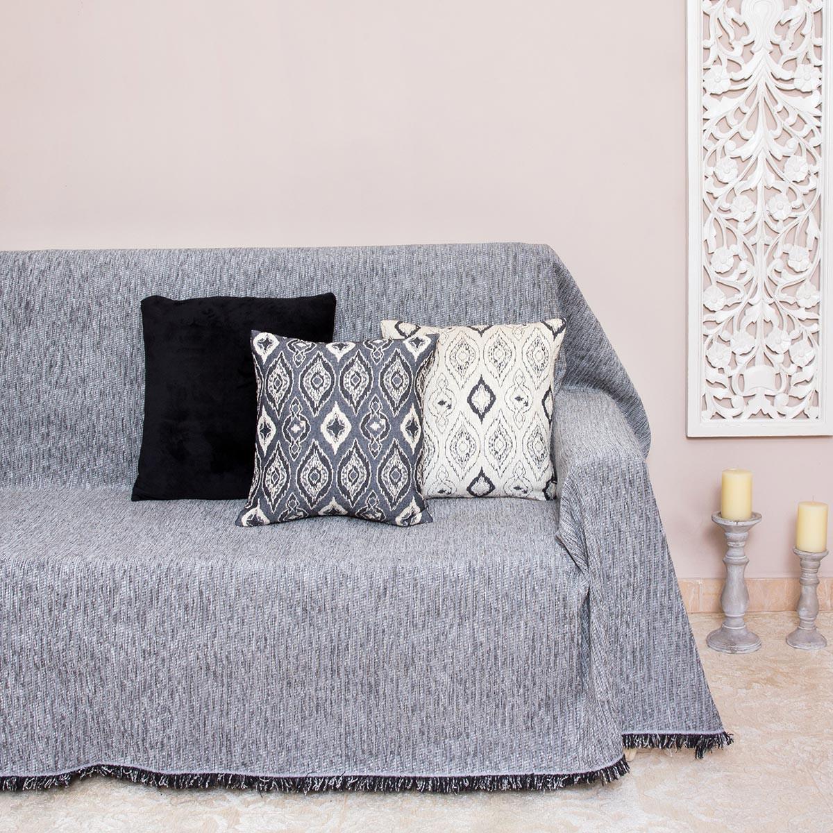 Ριχτάρι Τριθέσιου (180×300) Loom To Room Kottle Grey