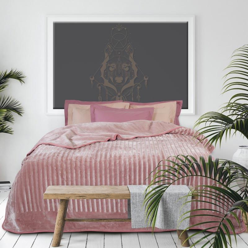 Κουβέρτα Βελουτέ Υπέρδιπλη Das Home Velour 431