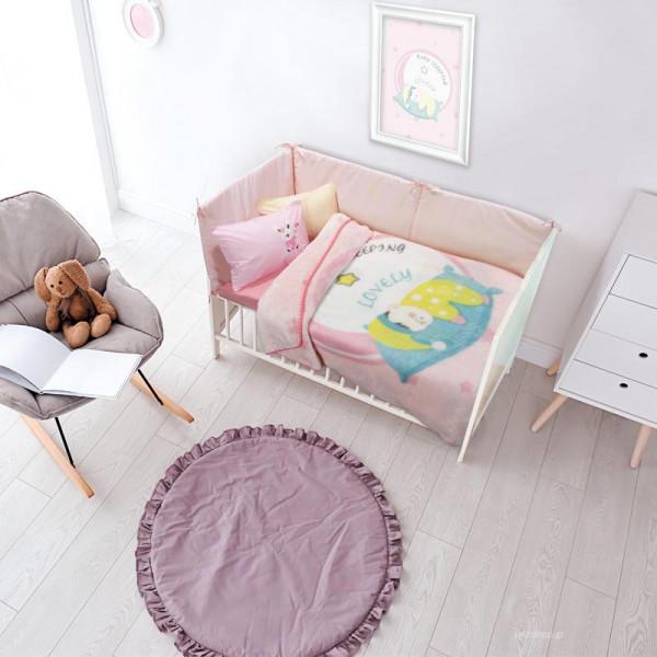 Κουβέρτα Βελουτέ Κούνιας Das Home Relax 6561