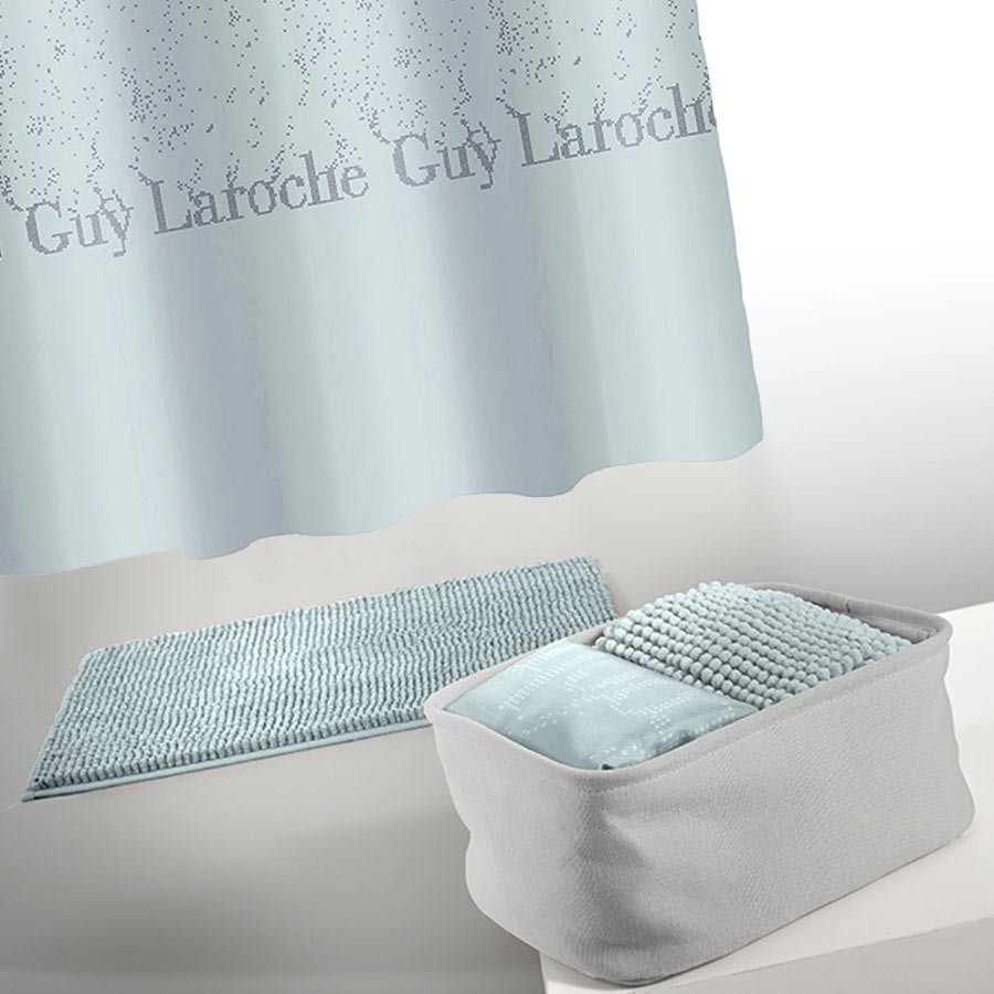 Κουρτίνα Μπάνιου + Πατάκι (Σετ) Guy Laroche Glossy Aqua
