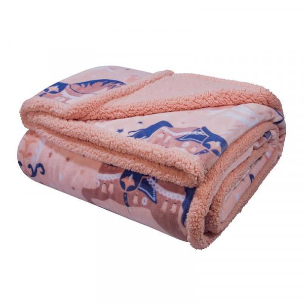 Κουβέρτα Fleece Αγκαλιάς Με Γουνάκι Greenwich Polo Club Baby 2923