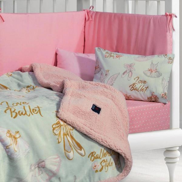 Κουβέρτα Fleece Αγκαλιάς Με Γουνάκι Polo Club Baby 2924