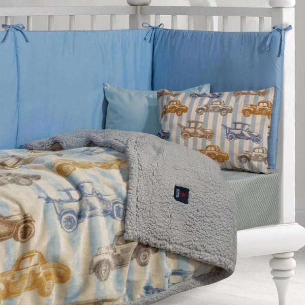 Κουβέρτα Fleece Αγκαλιάς Με Γουνάκι Polo Club Baby 2925