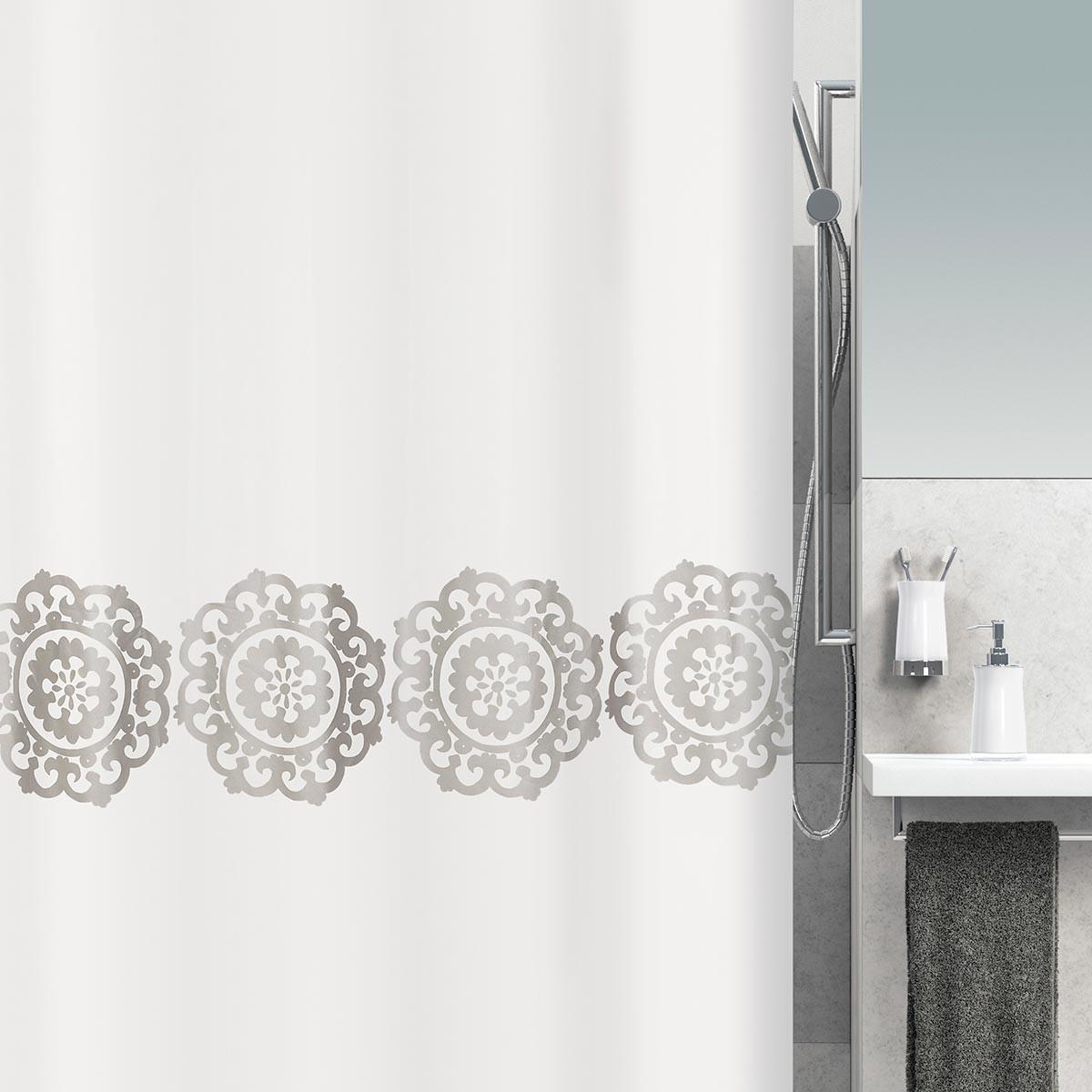 Κουρτίνα Μπάνιου (240×180) Spirella 01760.001 Medallion