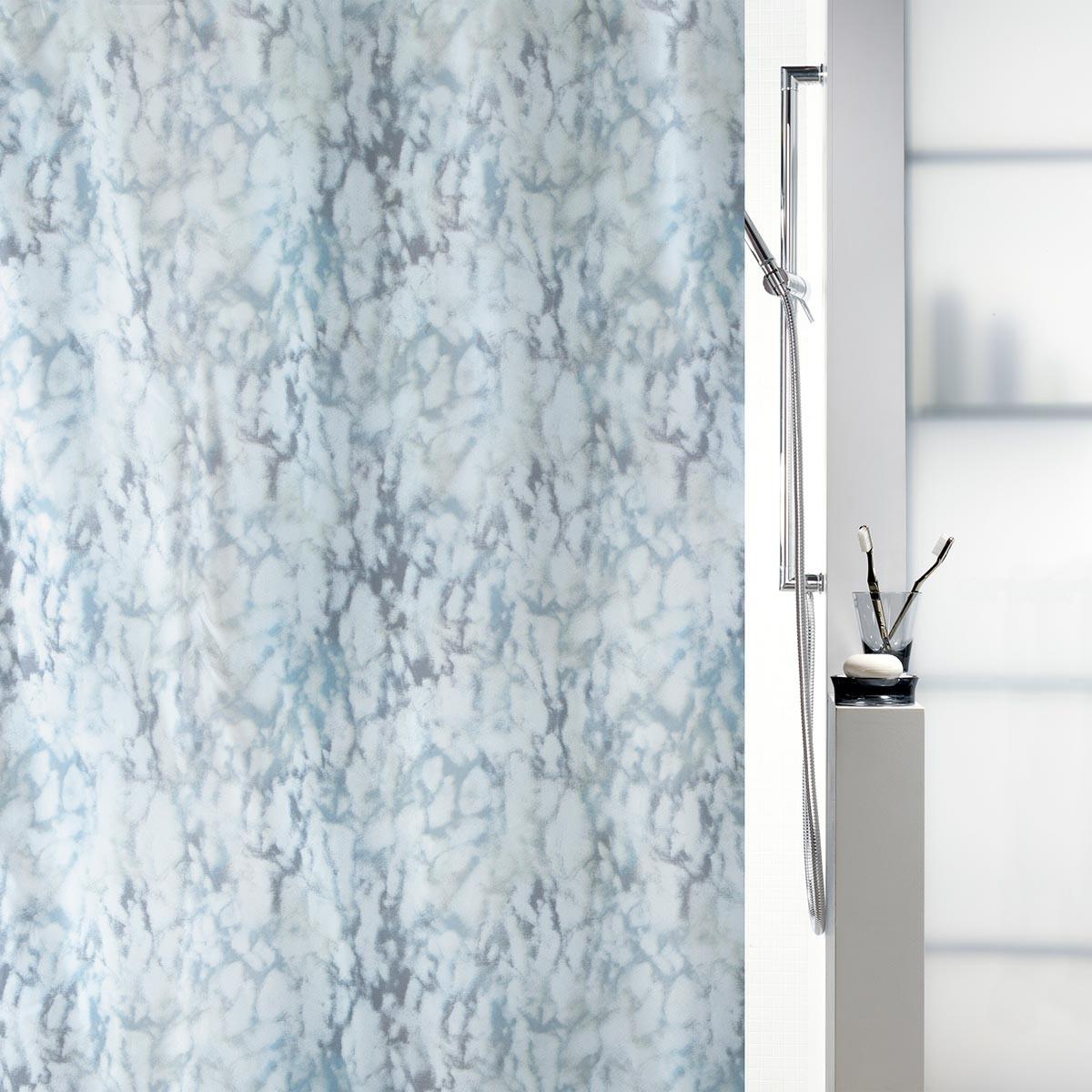 Κουρτίνα Μπάνιου (180×180) Spirella 02081.001 Marble Grey/Blue