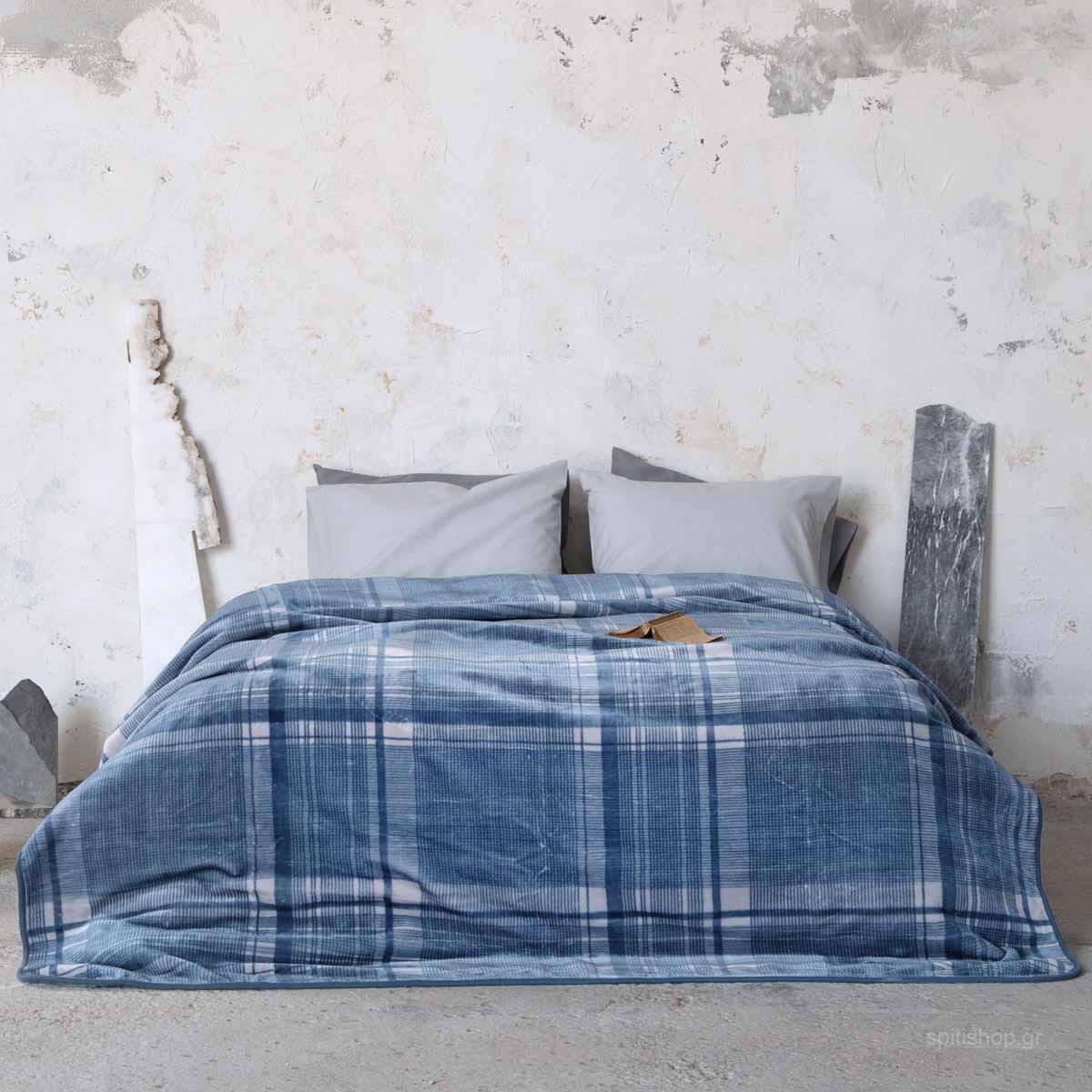 Κουβέρτα Βελουτέ Υπέρδιπλη Nima Bed Linen Battler
