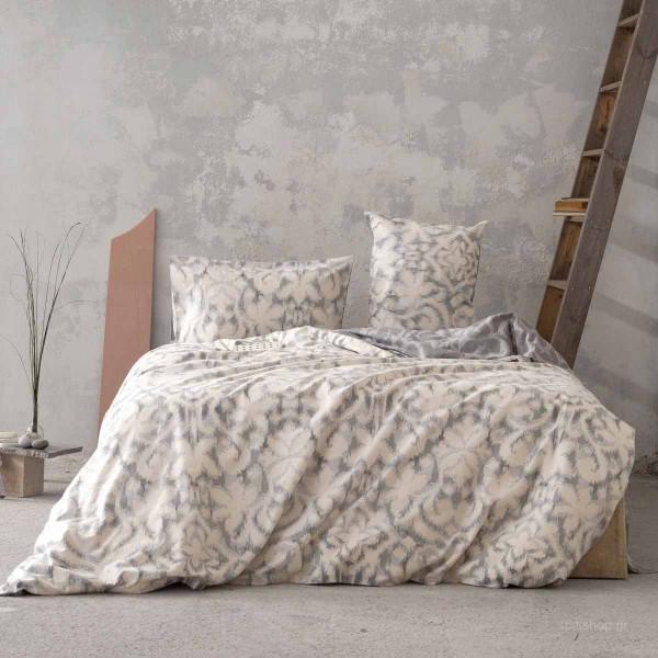 Φανελένια Παπλωματοθήκη Υπέρδιπλη (Σετ) Nima Bed Linen Niya
