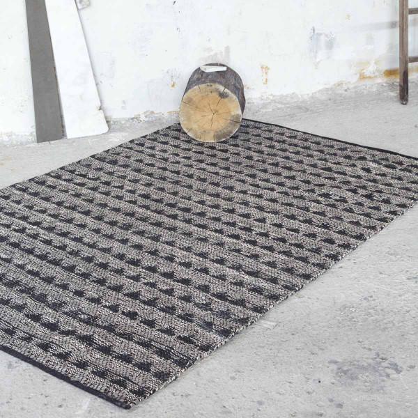 Δερμάτινο Χαλάκι (60x130) Nima Carpets Finley Charcoal