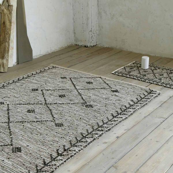 Δερμάτινο Χαλάκι (60x130) Nima Carpets Leone Charcoal