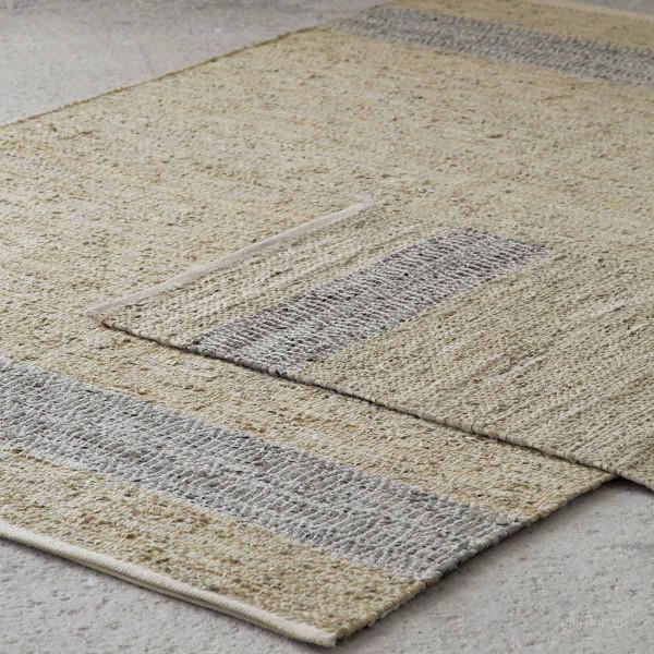 Δερμάτινο Χαλάκι (60x130) Nima Carpets Olwen Beige