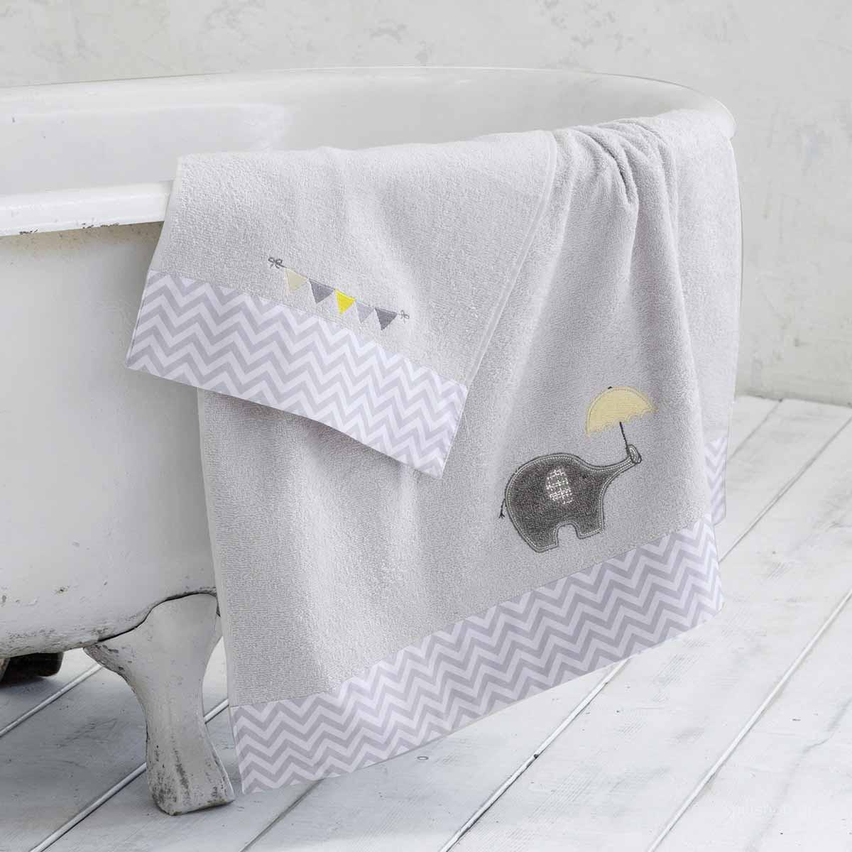 Βρεφικές Πετσέτες (Σετ 2τμχ) Nima Baby Elephantino