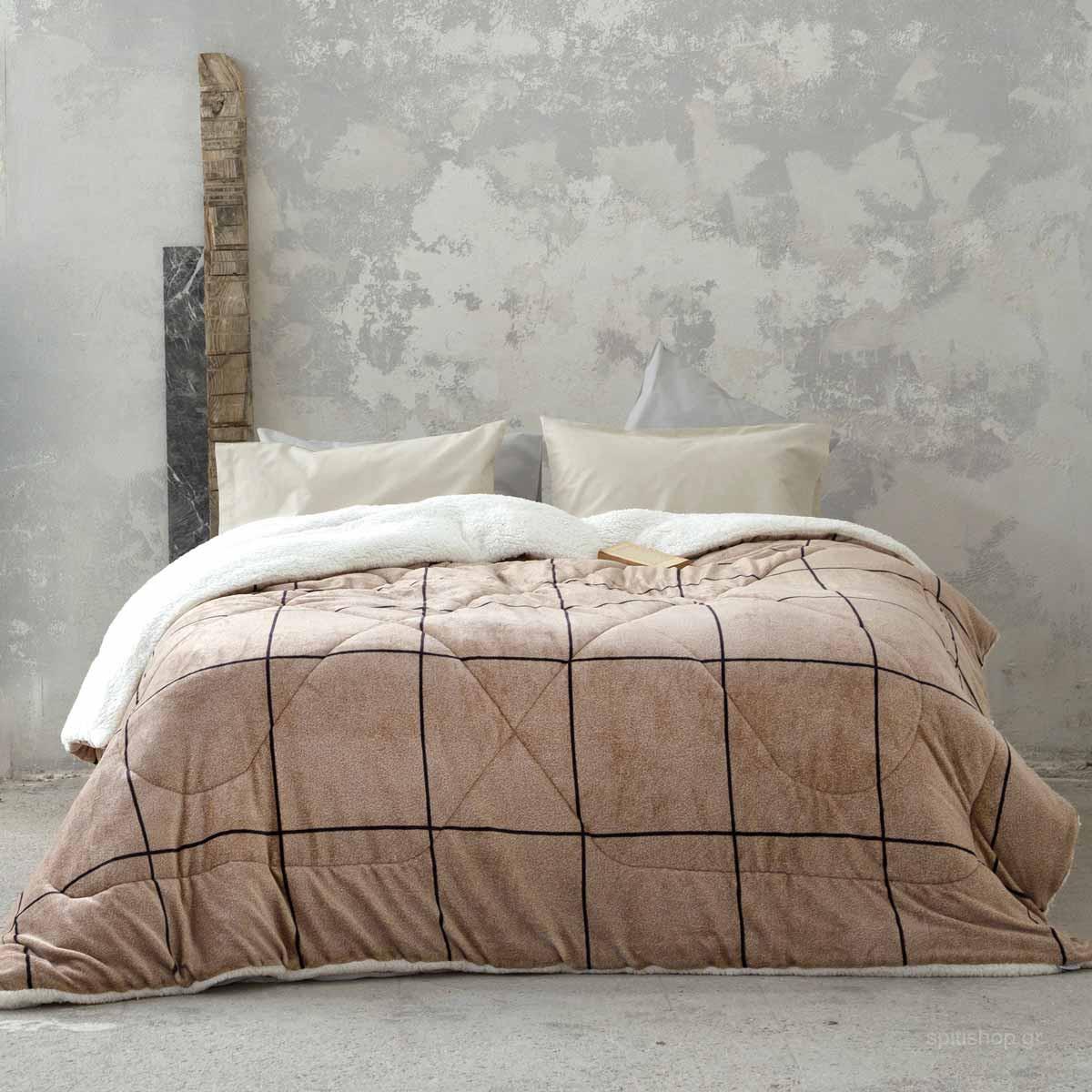 Κουβερτοπάπλωμα King Size Nima Bed Linen Tailor Beige