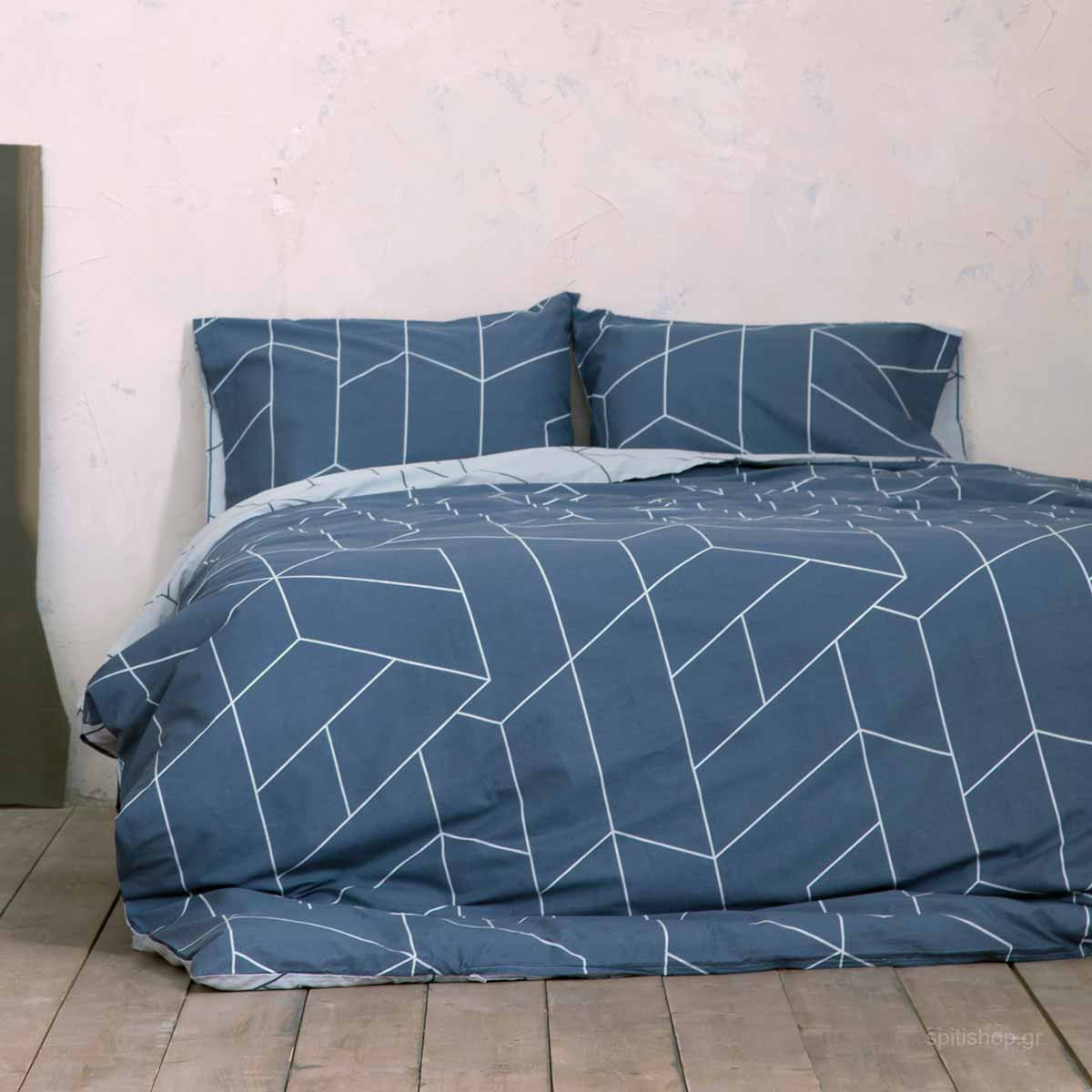 Σεντόνια King Size (Σετ) Nima Bed Linen Parity Blue
