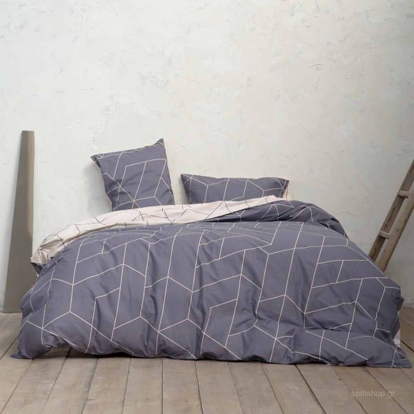 Σεντόνια Υπέρδιπλα (Σετ) Nima Bed Linen Parity Grey