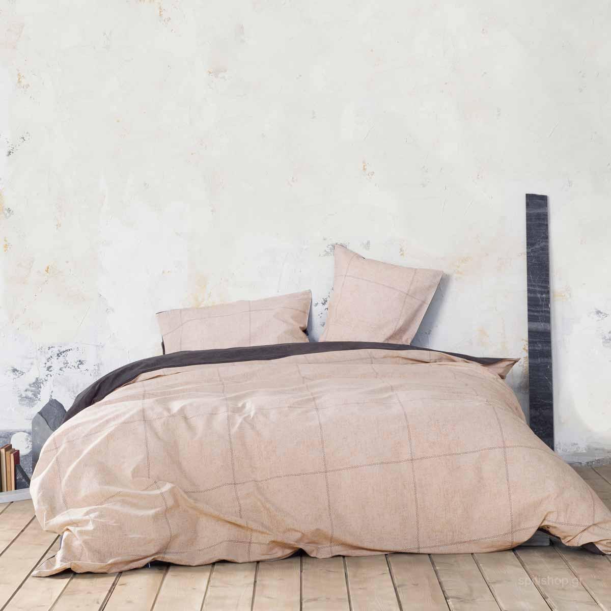 Παπλωματοθήκη Μονή (Σετ) Nima Bed Linen Tailor Beige