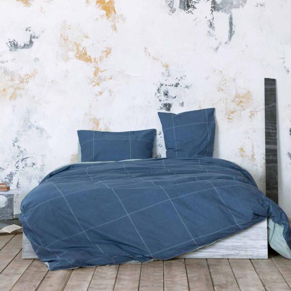 Σεντόνια Υπέρδιπλα (Σετ) Nima Bed Linen Tailor Blue