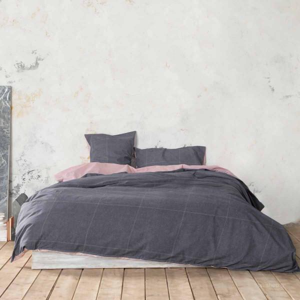 Σεντόνια Υπέρδιπλα (Σετ) Nima Bed Linen Tailor Grey
