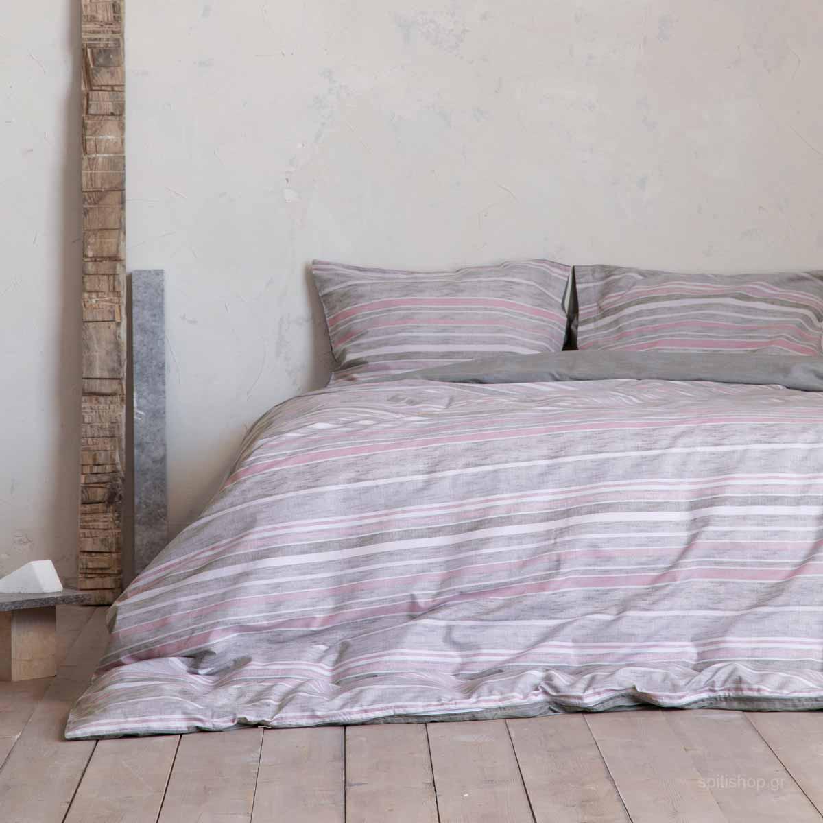 Σεντόνια Υπέρδιπλα (Σετ) Nima Bed Linen Lirbetto Powder ΜΕ ΛΑΣΤΙΧΟ 160×200+32 ΜΕ ΛΑΣΤΙΧΟ 160×200+32