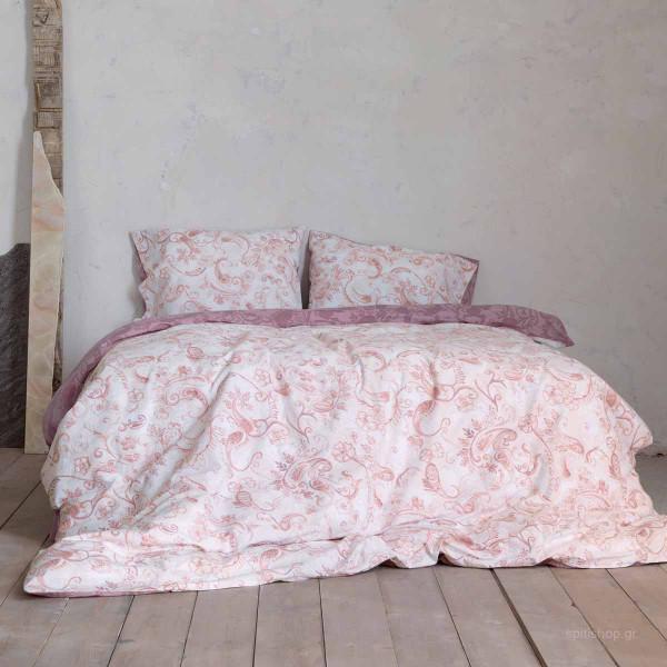 Σεντόνια Υπέρδιπλα (Σετ) Nima Bed Linen Roussia Cassis