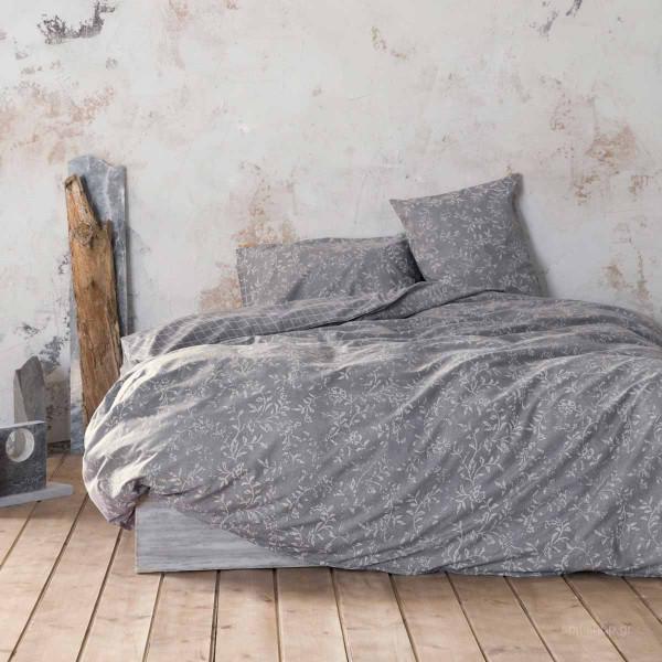 Σεντόνια Μονά (Σετ) Nima Bed Linen Adamello Grey