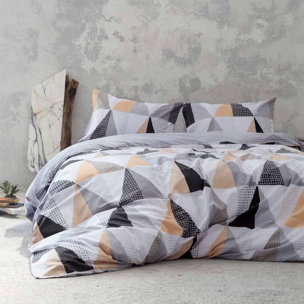 Σεντόνια Υπέρδιπλα (Σετ) Nima Bed Linen Trinity Beige