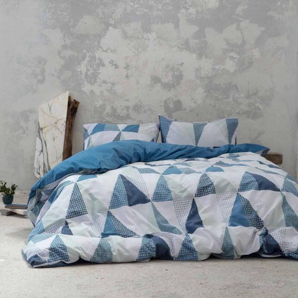 Παπλωματοθήκη Υπέρδιπλη (Σετ) Nima Bed Linen Trinity Blue