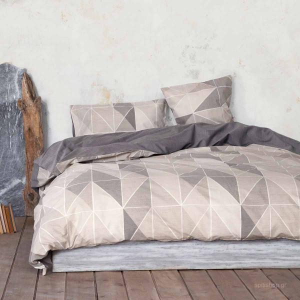 Σεντόνια Υπέρδιπλα (Σετ) Nima Bed Linen Couette Beige