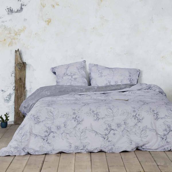 Σεντόνια Υπέρδιπλα (Σετ) Nima Bed Linen Tabitha Grey