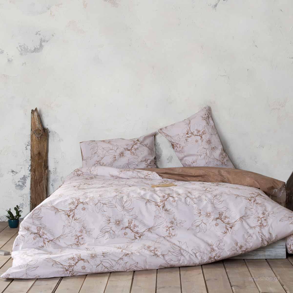 Σεντόνια King Size (Σετ) Nima Bed Linen Tabitha Beige ΧΩΡΙΣ ΛΑΣΤΙΧΟ 270×280 ΧΩΡΙΣ ΛΑΣΤΙΧΟ 270×280