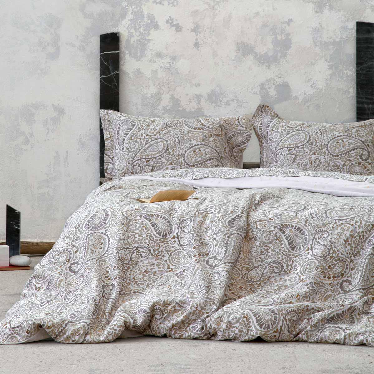 Σεντόνια King Size (Σετ) Nima Bed Linen Giacomo Beige ΧΩΡΙΣ ΛΑΣΤΙΧΟ 270×280 ΧΩΡΙΣ ΛΑΣΤΙΧΟ 270×280