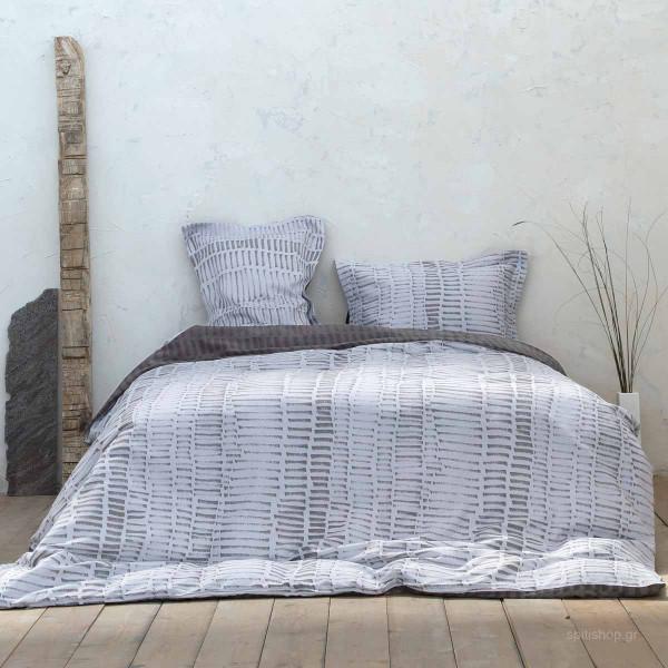 Παπλωματοθήκη Υπέρδιπλη (Σετ) Nima Bed Linen Talous Grey