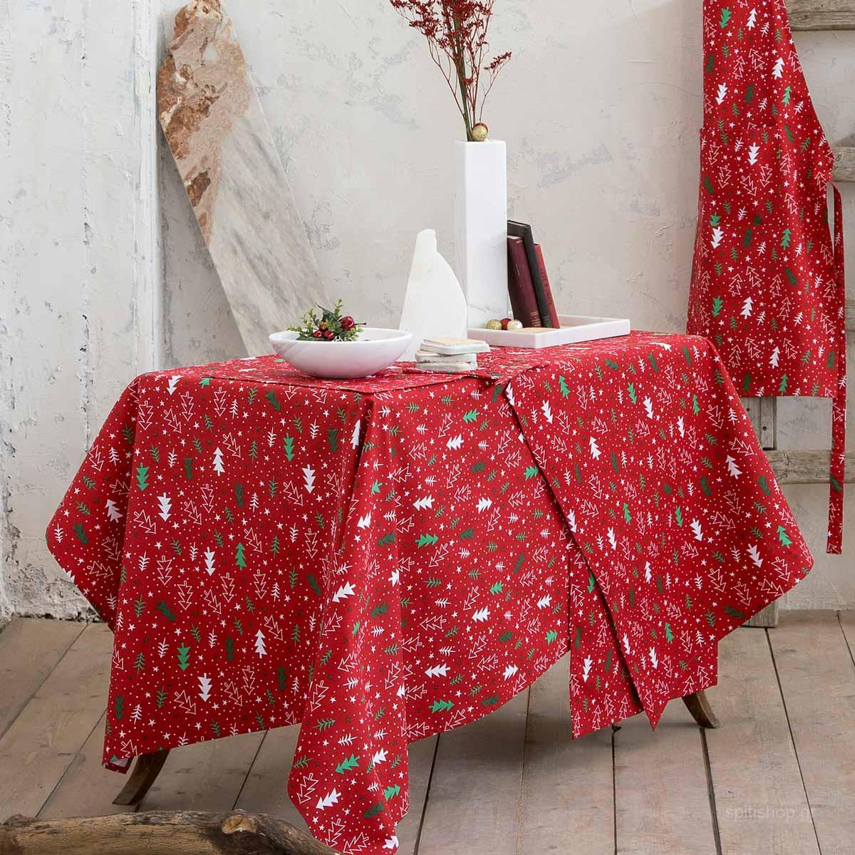 Χριστουγεννιάτικο Τραπεζομάντηλο (150×150) Nima Be Merry