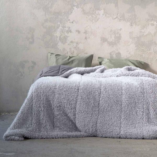 Κουβερτοπάπλωμα Υπέρδιπλο Nima Layers Smooth Grey