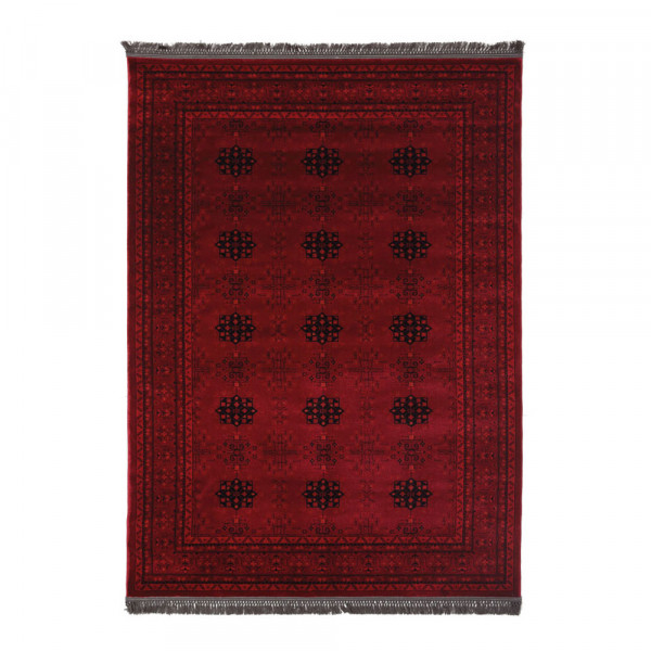 Χαλιά Κρεβατοκάμαρας (Σετ 3τμχ) Royal Carpets Afgan 8127A D.Red