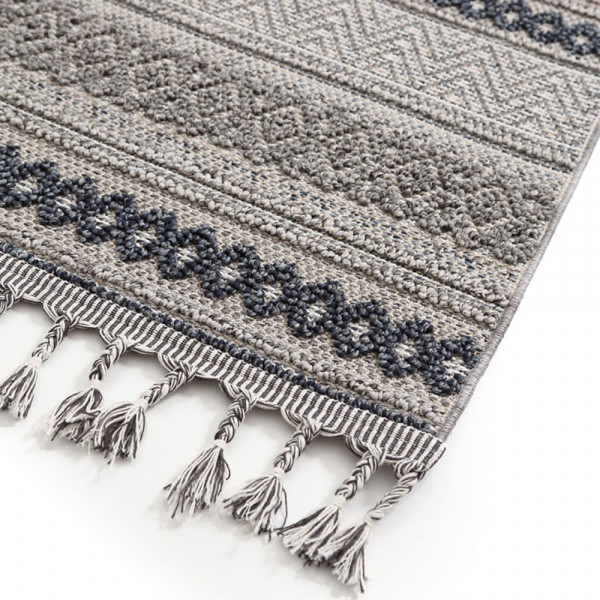 Χαλί Διαδρόμου (67x140) Royal Carpets Linq 7438A Ivory/D.Grey