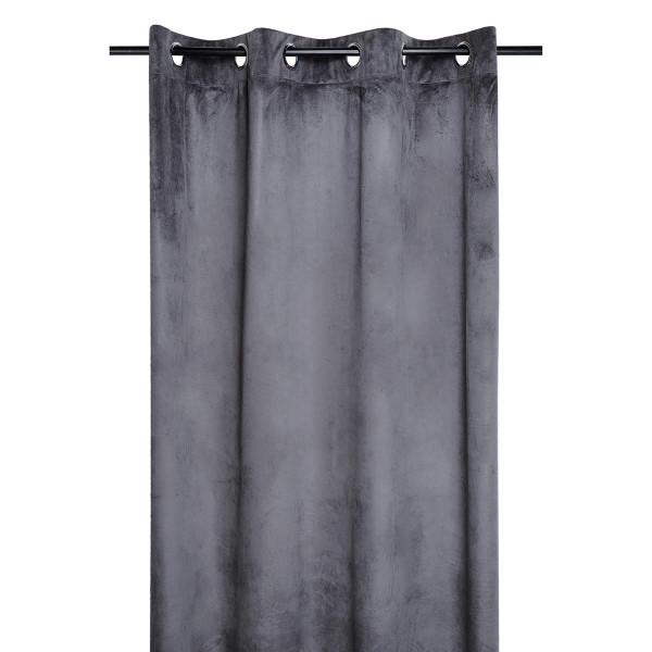 Κουρτίνα Βελουτέ (140x260) Με Τρουκς S-F Danae Anthracite R68630001