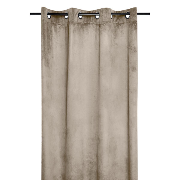 Κουρτίνα Βελουτέ (140x260) Με Τρουκς S-F Danae Naturel R68630004