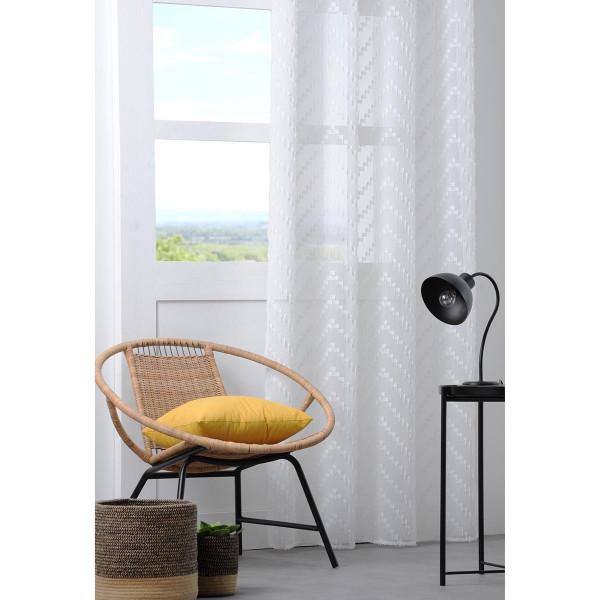 Κουρτίνα (135x260) Με Τρουκς S-F Design Blanc R6A193001VL