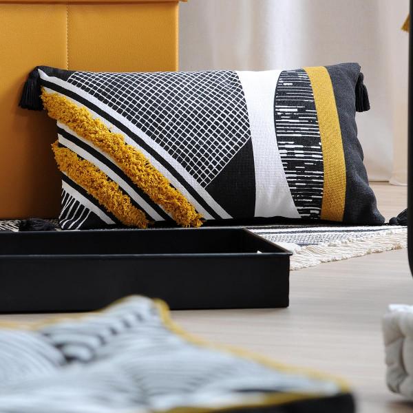 Διακοσμητικό Μαξιλάρι (30x50) S-F Beely Moutarde C3A167003